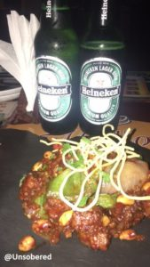 Beijing Chicken and Heineken Beer_Tamasha Review image
