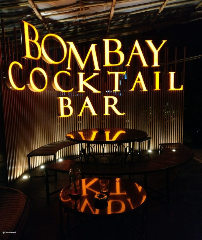Header image Bombay Cocktail Bar for Unsober Review
