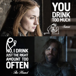 Sansa and Hound Game of thrones Quote for Unsobered Listicle