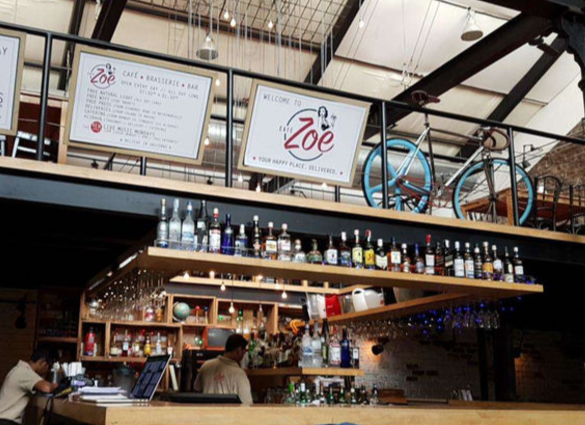 Cafe Zoe image for unsobered listicle on restobars serving great international beers