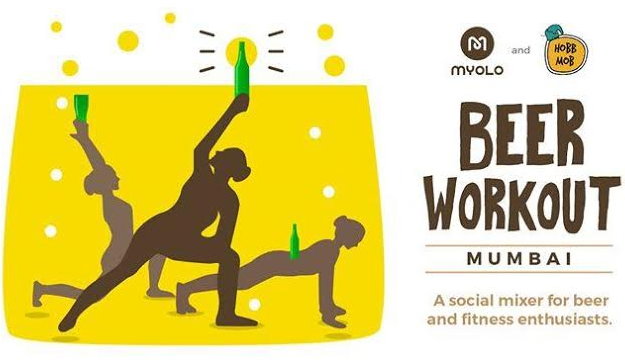 Beer workout Mumbai image for unsobered listicle
