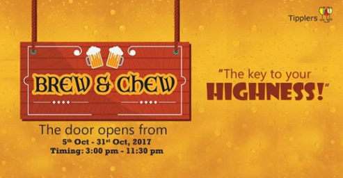 Brew & Chew image for unsobered listicle on beer events in mumbai