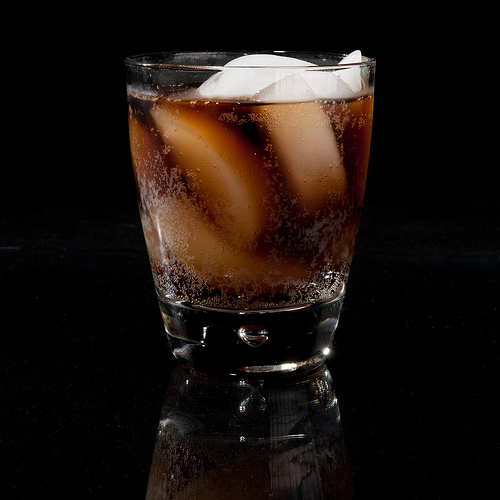 Cherry Coke Rum Drink