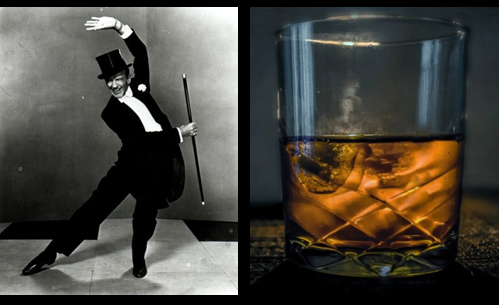 Classic jazz and scotch image for unsobered listicle on dance forms and alcohol