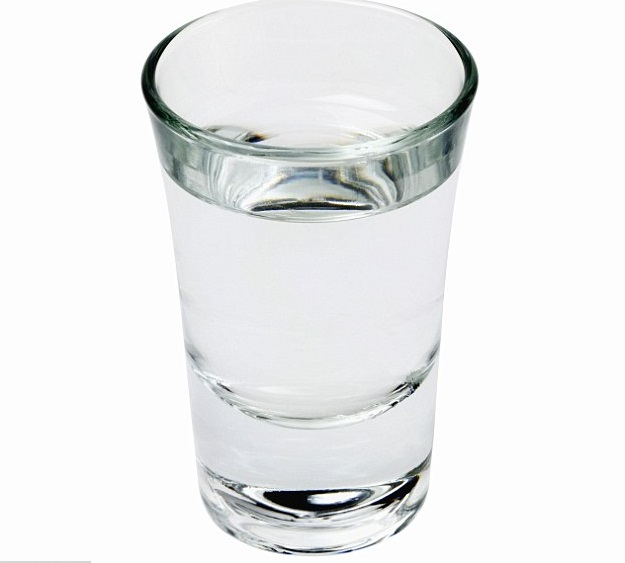 Vodka shot image for unsobered listicle on nutritional facts of alcohol