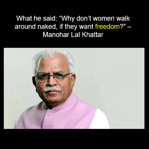 Manohar Lal Khattar image for unsobered listicle on drunk indian politicians