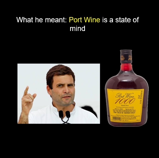 Rahuk Gandhi image for unsobered listicle on drunk indian politicians