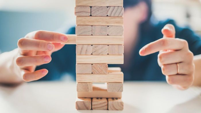 Jenga image for unsobered listicle on board games