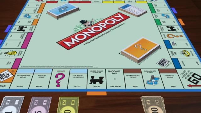 Monopoly image for unsobered listicle on board game